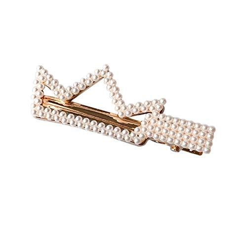 Haarspange mit Perlen und Perlen, für Mädchen Crown Full-dimonds (Heißesten Mädchen 2019)