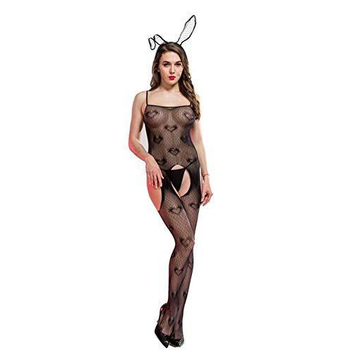 n Häschen Mädchen Cosplay Tragen Uniform Kostüm Einstellen Anzieh Teddy Dessous Kostüm Schlafanzug Fischernetz Bodystocking Bunny Girl ()