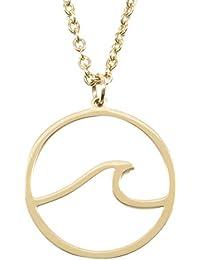 9a771cc84d2b Happiness Boutique Damas Collar de Olas del Océano en Color Oro