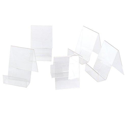 5 x Acryl. Buchstütze Handy Ständer Buchständer Warenstütze Warenträger Display Tischaufsteller Acrylaufsteller Prospektständer Große S
