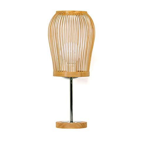 Xxw lamp E27 Source Light Moderno Dormitorio de bambú Simple Lámpara de Noche Cálido IKEA Jardín Estudio Lámpara de Mesa de Ojos Sala de Estar Creativa
