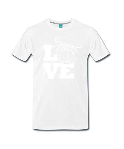 Spreadshirt Love Physiotherapie Männer Premium T-Shirt, M, Weiß