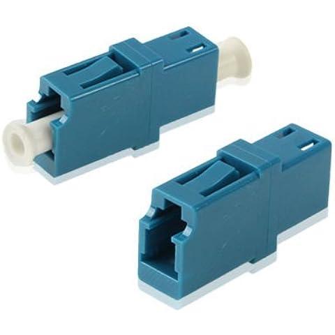 LC-LC Single-Mode Simplex Fiber Flange / Connettore / adattatore / Lotus Root Device(Blue)