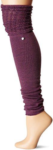 Toesox–Calcetines de las mujeres muslo alta Sasha–Calentadores de piernas, W/ventilador Welt y detalles Pointelle para danza y de la moda, Anochecer