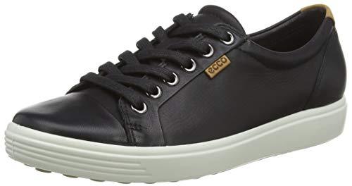 Ecco Damen SOFT7W Sneakers, Schwarz (BLACK 1001), 40 EU