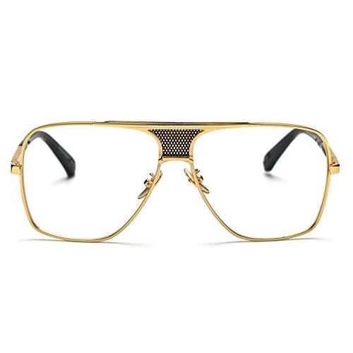 MINGMOU Brillengestelle Für MichTop Qualität Gold Metall Flat Top Big Man Brillen Optische Rahmen Marke, 1