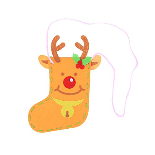 de Christmas Stockings Decorations Socks Gift Bags Non-Woven Crafts Pendant Kids Toys (Elk) ()