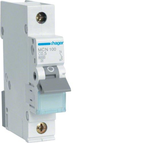 Preisvergleich Produktbild Hager MCN100 LS-Schalter 1P 6kA C-05A 1M Schraubtechnik