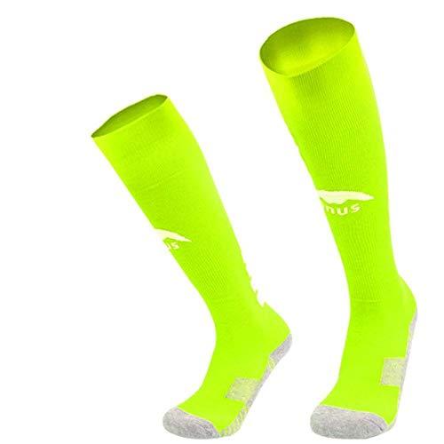 WADUANRUN Fußball Strümpfe/Fußballsocken Kindersport Long Tube rutschfeste Socken grün -