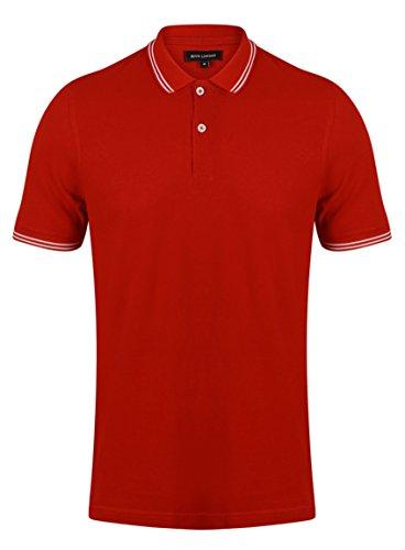 BCUK Herren Poloshirt Rot - Rot