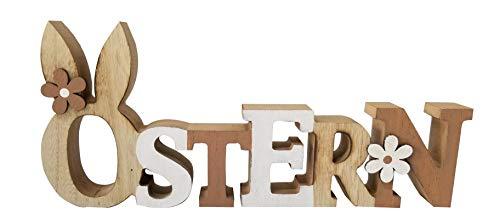 khevga Deko Ostern Osterdeko Schriftzug Ostern Holz