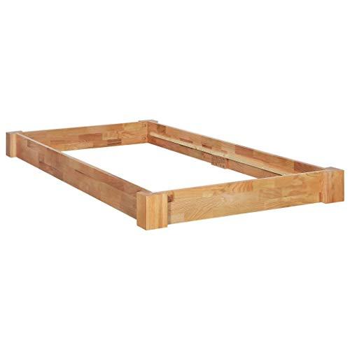 Festnight- Massivholzbett Bettgestell 90 x 200 cm   Futonbett Eichebett Holz Holzbett Einzelbett Schlafzimmer