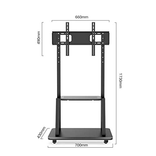 Exing TV-Stand, 32-65 Zoll LCD-LED Plasma TV Mount Floor Display Stand Bracket Carts/Trolley Mit DVD-Holder TV Load 80 Kg 32 Cantilever Mount
