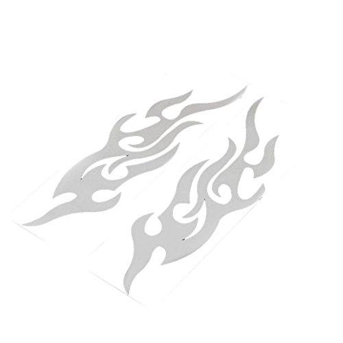 Universale Auto-Aufkleber, Styling für Motorhaube, Motorrad-Aufkleber, Dekor, Wandbild, Vinyl-Abdeckung, Zubehör, Flammen weiß