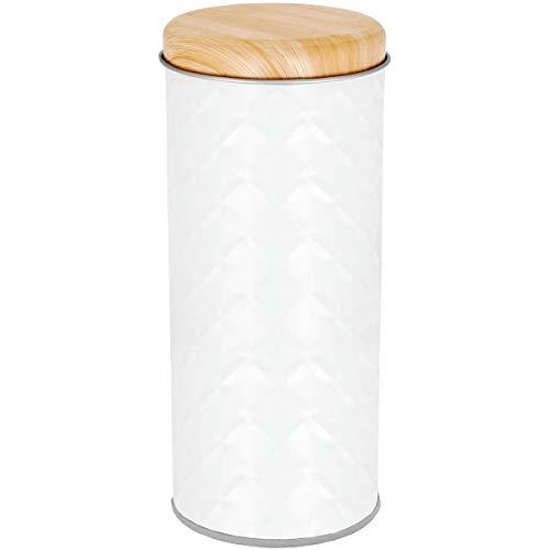 Promobo Kapselbox für Kaffeepads Design Relief Mosaik Deckel Farbe Bambus