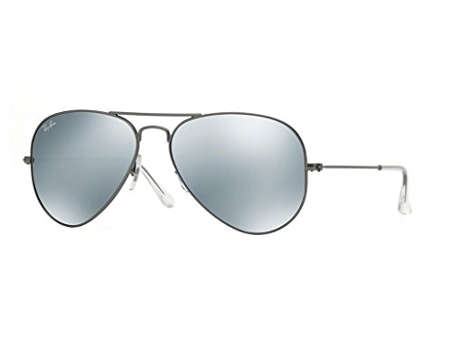 Ray-Ban RB3025 Aviator Sonnenbrille 55mm, Grau (029/30), 55 mm