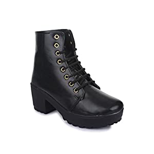Beautiful Blackstylish ankle length boot for women from Shenaya