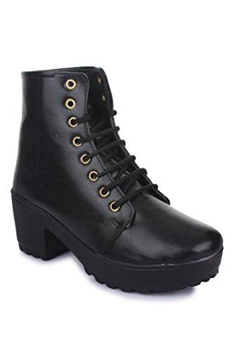 Beautiful Blackstylish ankle length boot for women from Shenaya
