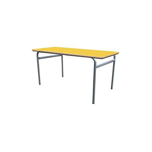 Mobeduc enfant extensible Table Structure ronde, bois, jaune, taille 3, 160 x 80 x 59 cm
