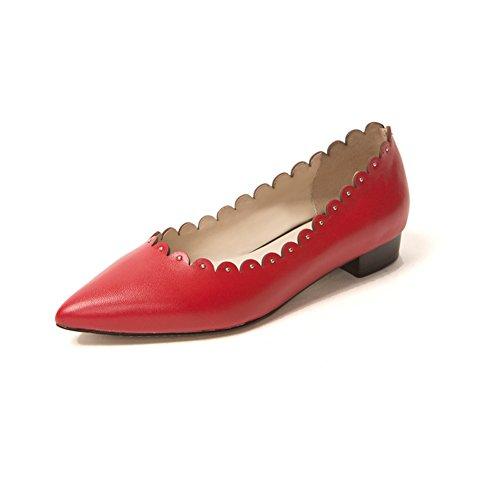 la version coréenne des chaussures pointues à la mode/Dentelle chaussures confortables A