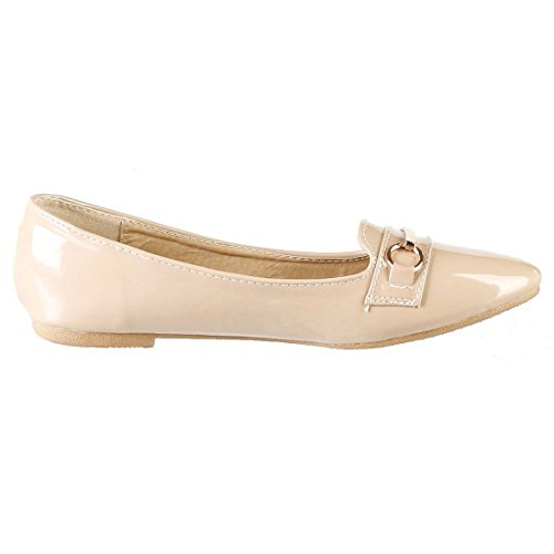 Likestyle-6165-ballerine-femme Anelli Uni Beige Lucido-beige