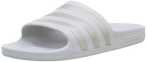 Adidas adilette aqua scarpe da spiaggia e piscina unisex adulto, grigio (grey two f17/platinum met./grey two f17 grey two f17/platinum met./grey two f17), 39 eu