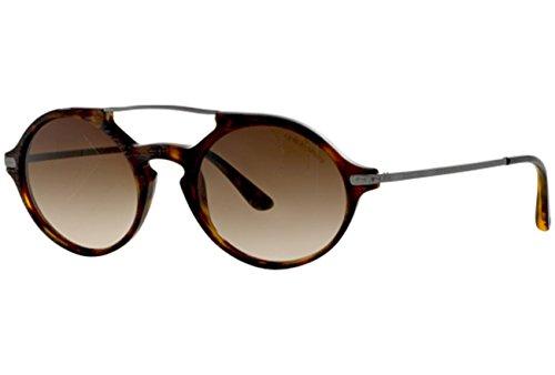 Giorgio Armani Herren AR8018 Sonnenbrille, Braun (Matte Havana 500213), One size (Herstellergröße: 49)