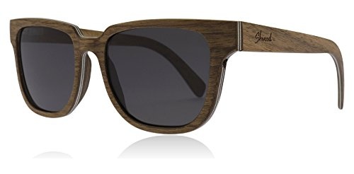 Shwood WOPWG Walnut Walnut Prescott Square Sunglasses Lens Category 3 Size 52mm