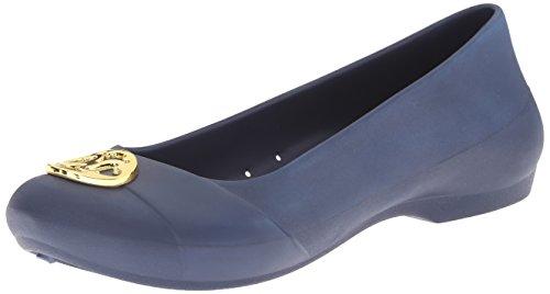 Crocs , Ballerines pour femme beige bleu marine/doré