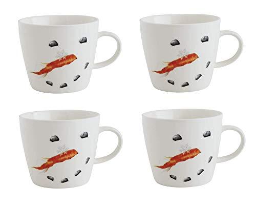 Kaffeebecher, Keramik, Schneemann-Motiv, 4 Stück (Heißes - Schokolade-schneemann)