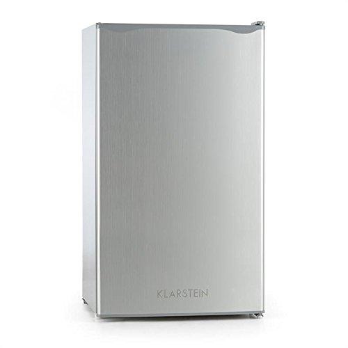 Klarstein Alleinversorger Single Edition - Réfrigérateur, 90 litres, Congélateur 7 litres, 2 niveaux, Classe A+, 2 clayettes et 3 compartiments de porte, Gris