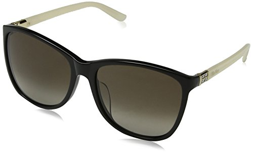 Max mara mm diamond ivfs ha szv 59, occhiali da sole donna, nero (bk mtlzdivry/brwn sf)