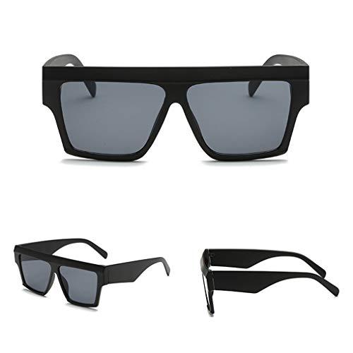 Manyo Sonnenbrille, quadratisch, verspiegelt, Retro-Stil, großer Rahmen, für Herren und Damen, UV400