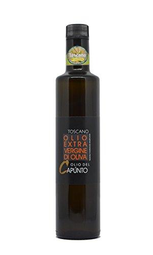 Olio extravergine di oliva toscano bottiglia 0,50 L - Olio del Capùnto IGP Toscano - Olio EVO 100% italiano - Fruttato medio