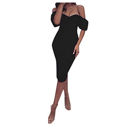 Deep Lovly Damen Kleid Mode Frauen Sexy Mittelarm TräGerlos Solide Eng Anliegende Partykleid Blazer Kleid Revers Kragen Vintage Party Club Rock Jumper Gestrickt Bleistift Kleid -