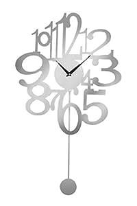 Premier Housewares-Horloge murale à pendule en Aluminium