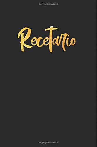 Recetario: Libreta a rayas pequeña, libro de recetas en blanco para escribir. Regalo original perfecto para mujer, hombre. Para cualquier ocasión: cumpleaños, navidad, amigo invisible…