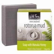 Wild Ferns Rotorua Thermal Mud Soap 125g x 1 [Personal Care] - Mineral Care Schlamm