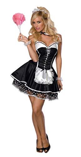 Staubigen Kostüm - Rubie's Offizielles Damen-Kostüm, sexy Maid Secret Wishes, Erwachsenen-Kostüm, Größe S