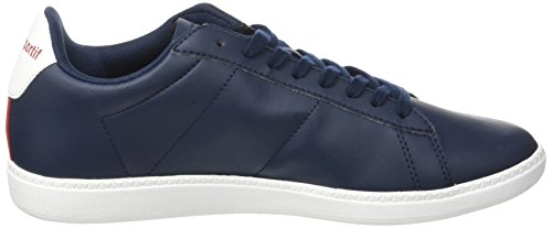 Le Coq Sportif Courtset S Lea, Baskets Basses Mixte Adulte Bleu (Dress Blue/Vintage R)