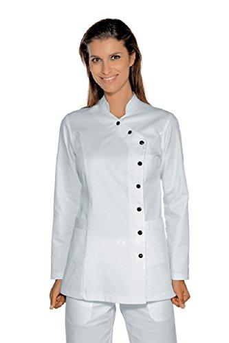 Isacco Schultasche Nizza Weiß, XXL, 65% Polyester, 35% Baumwolle, lange Ärmel, Knöpfe mit Ösen
