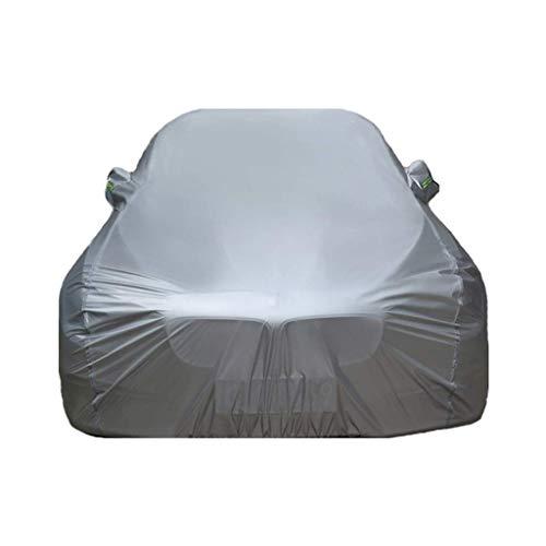 Yapin Car-Cover Kompatibel mit Renault Koleos Four Seasons Universellen Wasserdichten UV atmungsaktiv Staubdicht Schutz-im Freien Schutz Car Cover Jacken Schutzkleidung (Color : Silver)