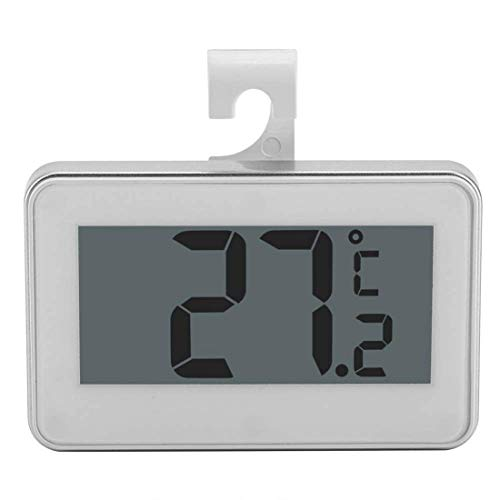 UKE Termómetro de refrigerador Digital a Prueba de Agua, (2-Pack) Termómetro de congelador de Nevera LCD Monitor de Temperatura de Alarma de congelación portátil Pantalla LCD fácil de Leer