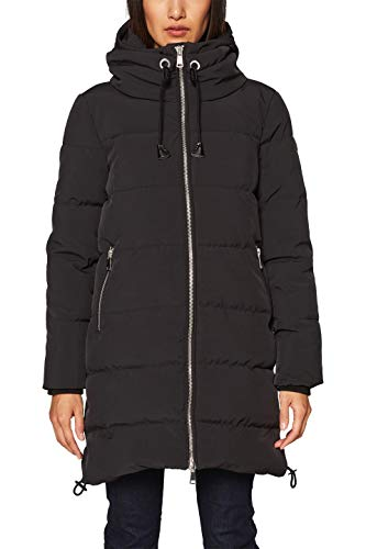 ESPRIT Damen Mantel 128EE1G025 Schwarz (Black 001), Medium (Herstellergröße:M)