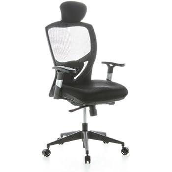 Drehstuhl ergonomisch  hjh OFFICE 608400 Bürostuhl Drehstuhl PRO-TEC 400 Stoff schwarz ...