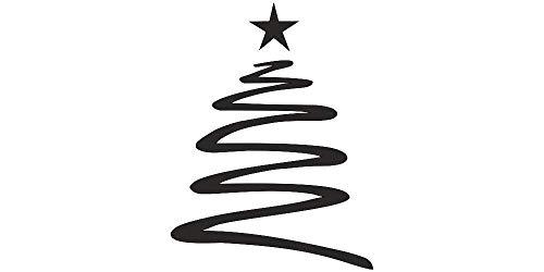 Wandtattoo Weihnachten - Tannenbaum mit Stern