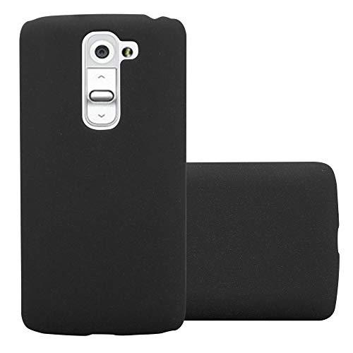 Cadorabo Hülle für LG G2 Mini - Hülle in Frosty SCHWARZ - Hardcase Handyhülle im matten Frosty Design - Schutzhülle Bumper Back Case Cover