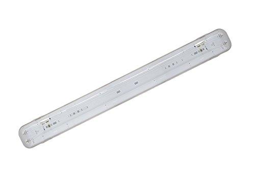 Plafoniere Neon Per Esterno : Plafoniera led stagna attacco doppio tubo neon t cm