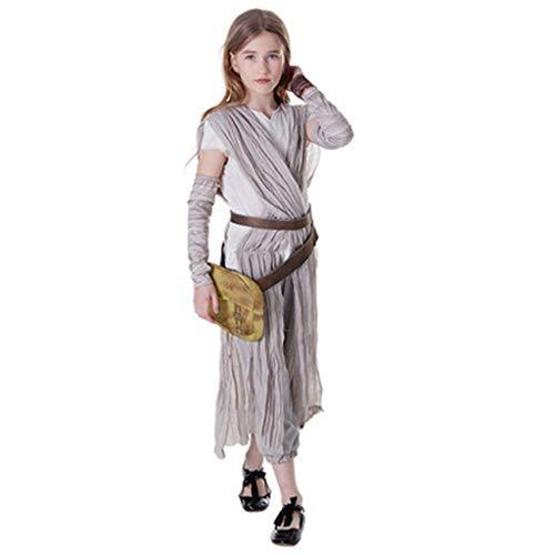 Kinder Star Wars Cosplay Rey Kostüm Prinzessin