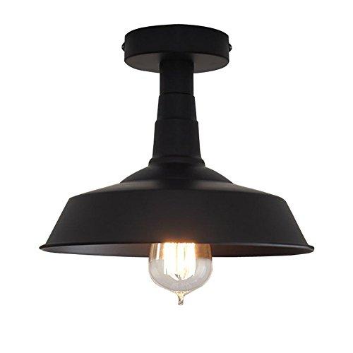 Beleuchtung Industrie Edison Semi Flush Mount Mini Vintage Deckenleuchte (Birne nicht im Lieferumfang enthalten) Schwarz -
